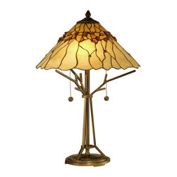 Dale Tiffany - Dale Tiffany TT10598 Branch Base Tiffany Table Lamp with 2 Lights - Dale Tiffany TT10598 Branch Base Tiffany Table Lamp with 2 LightsAugment the lighting in your room  with this unique Branch Base Tiffany Table Lamp with 2 Lights. This table lamp by Dale Tiffany features an attractive Antique Bronze finish. This lamp is a great way to add sophistication to your home.Dale Tiffany TT10598 Features: