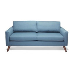 """TrueModern - Dane 70"""" Loveseat Sofa - A classic all on its own, the TrueModern Dane standard sofa makes a statement even without the added chaise (sold separately). Perfect for any room in your home, Dane's sleek and classic shape features super slim arms and Danish legs."""