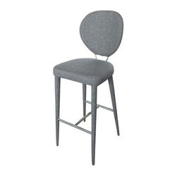 Retro Bar Stool in Gray - We're digging the chic vibe from the Retro Bar Stool in Gray. The comfy fabric seating and sleek metal frame are perfect for your next swanky cocktail party.