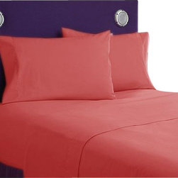 SCALA - 600TC 100% Egyptian Cotton Solid Brick Red King Size Flat Sheet + 2 Pillowcases - Redefine your everyday elegance with these luxuriously super soft Flat Sheet. This is 100% Egyptian Cotton Superior quality Flat Sheet that are truly worthy of a classy and elegant look.  Includes :King Size Flat Sheet 1 Flat Sheet 108 Inch (length) X 102 Inch (width).2 Pillowcase 20 Inch (length) X 40 Inch (width).