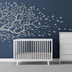 Cherry Walls - Windy Daze Tree & Leaves Decal - The ebb and flow of it. Give your baby's nursery a quick makeover with this bold, dazy-lazy tree and leaves image. Easy-breezy to apply and enjoy in wonderment.