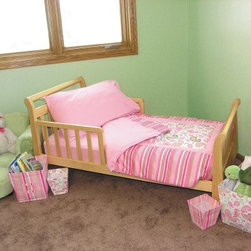 Trend Lab Toddler Bed 4pc Bedding Set - Paisley - This design is as sweet as your little princess! The Trend Lab Toddler Bedding Set Paisley features pink and green paisleys over a white background accented by a striped border on the coverlet. The coordinating pink sheets and pillowcases are 100% cotton. The coverlet is cotton with ultra suede accents and a cotton percale back. This bedding set is machine-washable using the gentle cycle with cold water and can be tumble dried on a low setting or dried on a line. Bleach should not be used in laundering this set.About Trend LabTrend Lab offers quality trend-right products that appeal to most parents. Even the name of the company expresses its commitment to market trends and emerging technology. To ensure you get only the best products Trend Lab uses fine materials and closely monitors the quality. With extensive experience in product development raw materials sourcing and manufacturing Trend Lab is able to deliver trendsetting products to the market.