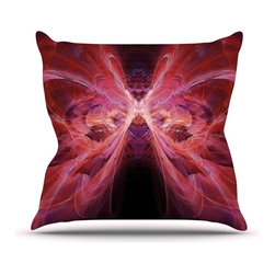 "Kess InHouse - Alison Coxon ""Butterfly Red"" Red Pink Throw Pillow (16"" x 16"") - Rest among the art you love. Transform your hang out room into a hip gallery, that's also comfortable. With this pillow you can create an environment that reflects your unique style. It's amazing what a throw pillow can do to complete a room. (Kess InHouse is not responsible for pillow fighting that may occur as the result of creative stimulation)."