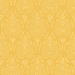 Wallpaper Worldwide - Kiera - Classic Damask Wallpaper, Yellow - Material: Paper