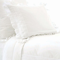 Pine Cone Hill - louisa duvet cover (white) - Soothing neutrals and soft, subtle textures create a tranquil aesthetic for our beach house collection. Classic decorative pillows, cotton bed sheets, plush duvet covers and more are the foundation for your casual chic cottage.