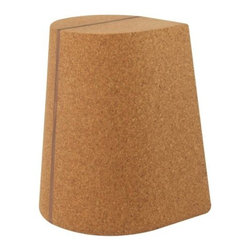 Skram Furniture - Corkdrop Stool/Side Table by Skram Furniture - A playfully natural way to add extra seating or surfaces to a living area. Made out of a teardrop-shaped wedge of solid high density cork, the Skram Furniture Corkdrop Stool/Side Table is both strong enough and the proper size to successfully meet either function. The cork is accented by a single stripe of warm, textural walnut. Especially effective when arranged in multiples. Skram Furniture Company was founded in 2001 by A. Jacob Marks to change the meaning of American craftsmanship by pairing it with contemporary furniture design. The combination of natural materials, sustainable practices and exquisite workmanship have resulted in a versatile modern furniture collection appreciated worldwide. All Skram furniture and home accessories are designed and manufactured in the Piedmont region of North Carolina.
