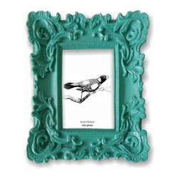 Baroque Turquoise Frame - Mix baroque with turquoise for a smashing frame to show off.