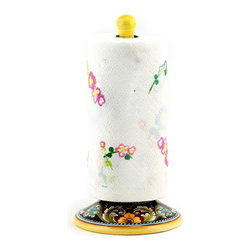 Artistica - Hand Made in Italy - Deruta Vario: Upright Towel Paper Roll Holder - Deruta Vario
