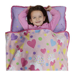 Betesh Group - Sweetheart Ice Cream Hearts Toddler Nap Mat Sleeping Roll - FEATURES: