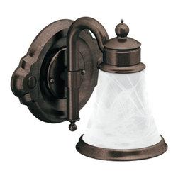 Moen - Moen YB9861ORB Waterhill Single Globe Light Bath Fixture in Oil Rubbed Bronze - Moen YB9861ORB Waterhill Single Globe Light Bath Fixture in Oil Rubbed Bronze