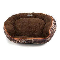 Dallas Manufacturing Company - Realtree Large Camo Bolstered Pet Bed - FOV3630-160.1 - Shop for Beds Covers and Fill from Hayneedle.com! Let your favorite hunting buddy sleep in style on the Realtree Large Camo Bolstered Pet Bed. This comfy round bed features Realtree MAX-4 camo sidewalls with piping in select color options. Large bolsters and a plush Microtel sleeping area make this bed comfy. It's made of 100% recycled polyester fiber fill and is washable.