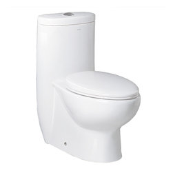 """Ariel - Ariel Platinum """"Hermes""""  Contemporary One Piece White Toilet with Dual Flush 28. - Ariel cutting-edge designed one-piece toilets with powerful flushing system. It's a beautiful, modern toilet for your contemporary bathroom remodel."""