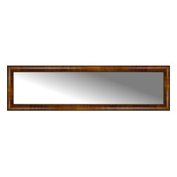 """Posters 2 Prints, LLC - 58"""" x 16"""" Belmont Light Brown Custom Framed Mirror - 58"""" x 16"""" Custom Framed Mirror made by Posters 2 Prints. Standard glass with unrivaled selection of crafted mirror frames.  Protected with category II safety backing to keep glass fragments together should the mirror be accidentally broken.  Safe arrival guaranteed.  Made in the United States of America"""