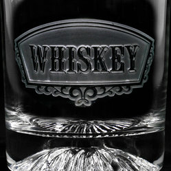 Whiskey Banner Glass, Set of 4 Engraved