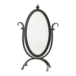 Pretty Perch Vanity Mirror - A classic oval vanity mirror ups the cute factor with a pretty bird perched on top. Providing your bathroom, dresser, or living room a vintage-inspired look and feel, you can't help but whistle along with the birds in the mornings as you gaze at your reflection.