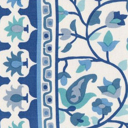 Rohet Blue Fabric - Mally Skok's Rohet Blue fabric is just heavenly and takes me straight to the beach. Imagine this fabric as a gorgeous duvet cover or simple panels framing the water view. It would be the most perfect dose of blue for a cottage.