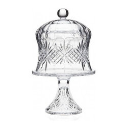 "Godinger Silver - Dublin Crystal Cheese Dome on Pedestal - Forget the cling wrap! This Dublin Crystal Cheese Dome is a better way to keep your artisanal cheeses and special desserts fresh. Its stunning craftsmanship and exquisitely cut crystal will compliment any home decor. The cake plate sits on a pedestal base and includes an aristocratic domed top with round finial handle. This dish will add elegance to your table from dinnertime to breakfast. * Dimensions: 7.90""L X 7.90""W X 12.50""H"