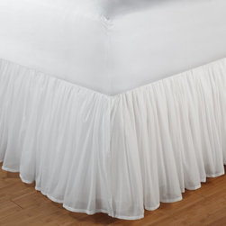 Greenland Home Fashions - Greenland Home Fashions Cotton Voile Bed Skirt - 15 in. Ruffle - White - GL-1107 - Shop for Bedskirts from Hayneedle.com! About Greenland Home FashionsFor the past 16 years Greenland Home Fashions has been perfecting its own approach to textile fashions. Through constant developments and updates - in traditional country and forward-looking styles the company has become a leading supplier and designer of decorative bedding to retailers nationwide. If you're looking for high quality bedding that not only looks great but is crafted to last consider Greenland.