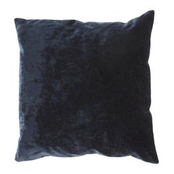 """Jaipur Rugs - Black color linen cotton luxe poly fill pillow 20""""x20"""" - The Luxe collection is affordable luxury in one small package. Luxe is offered in both a 20�x20� throw pillow and a lumbar size. Luxe is ultra-soft with a velvety texture and linen backing giving it an updated and sophisticated edge."""