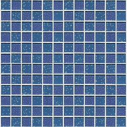 Glossy Glass Mosaic Blue Blend of Stars and Planets - Glossy glass mosaic
