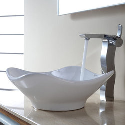 "Kraus - Kraus KEF-14600-PU-10CH Chrome Exquisite Sonus Single Hole Vessel - Product Features:Fully covered under Kraus  limited lifetime warrantyAll-brass faucet constructionHigh-quality, corrosion and rust resistant triple-plated finish - finish covered under lifetime warrantySingle handle operationTall design for use with vessel (above-the-counter) sinksADA compliantLow lead compliant - complies with federal and state regulations for lead contentDesigned to easily connect to standard US plumbing supply bibsExtra secure mounting assemblyAll necessary mounting hardware includedProduct Technologies and Benefits:Precision Kerox Cartridges: The cartridge's job is to deliver smooth handle operation and water flow, throughout hundreds of thousands of uses, without ever leaking – all while under a punishing 60 pounds-per-square-inch of pressure. For these reasons, it is quite literally what ""makes or breaks"" the faucet. Kraus understands this, so they take no shortcuts here, importing their cartridges from the world's leading manufacturer of high-end precision ceramic disc cartridges, Kerox in Hungary.Swiss-Made NeoPerl Aerators: Aerators are possibly the most under-appreciated component within faucets. Not only do they soften the stream (preventing splashing), but they also control the straightness, diameter, overall delivery of water. Fortunately, like their cartridges, Kraus recognizes this and chooses to takes no gambles here – they import their aerators from NeoPerl in Switzerland, the world's leading manufacturer for high-end and specialty aerators.Heavily Certified: Kraus has gone to great lengths to be able to provide you, the homeowner, the rest-easy satisfaction knowing that your faucet is certified and listed by all the major product testing boards in the US and Canada. This means that this faucet is deemed safe to use and"