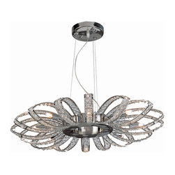 Bromi Design - Bromi Design Brilliance 8-Light Crystal Chandelier - Brighten up your room with the 8-light crystal chandelier. It features stylish steel frames filled with crystals for a sophisticated touch of style. This chandelier is perfect for uplifting the decor of your dining room or living room. What's included: Chandelier (1).