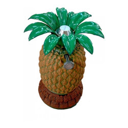 Arctic Flame - Tiki Torch - Pineapple Style With Table Base - The Arctic Flame Tiki Torches are a garden delight with the natural thematic designs. Bring a bit of the tropics to your home and backyard with the Pineapple Tiki Torch in Table Mount configuration.