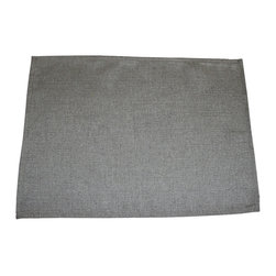 """Grey House Linens - The Elise Collection Solid Placemat - Measures 14"""" x 20""""."""