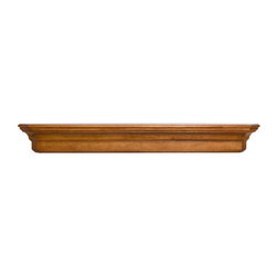 Lindon Fireplace Mantel Shelf - The solid wood, hand carved Lindon Fireplace Mantel Shelf features angled edges and clean lines creating a frame that showcases your fireplace.