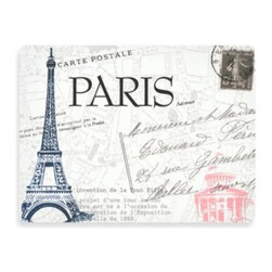Design House La - Design House LA Paris Hardboard Placemats (Set of 2) - The Paris Hardboard Placemats feature cork backing and a heat protective layer on top. Give your tabletop a break and use these placemats to be protect against stains and add a stylish touch to every meal.