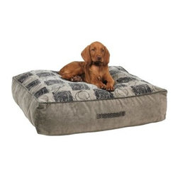 "Bowsers Diamond Series Microvelvet Designer Tahoe Dog Bed - Your dog will love the comfort of the Bowsers Designer Tahoe Dog Bed and you'll love the stylish design. This is a thick rectangular bed with 8"""" of blown recycled fiber for dependable sink-into-it comfort. This rugged bed has a handle for easy portability. Take it with you on your next adventure to make your best friend feel comfortable anywhere.All of these dog beds are made with strong luggage-quality zippers and supersoft pre-washed color-safe fabrics. Each product is manufactured to meet the highest standards and inspected individually to ensure quality.Large dog bed dimensions27Lx 30W inchesExtra-large dog bed dimensions33L x 38W inchesAbout BowsersSince 1998 Bowsers has been a leader in quality pet products. Focusing on high-quality material superior craftsmanship and a wide array of over 65 upholstery fabrics Bowser's practical designs have created a revolution in the way many people think of pet products. The interior design team led by Eileen Wilkes and Linda Brown ensures that the award-winning designs reflect the latest contemporary trends in home decor."