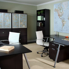 Contemporary Home Office by Sharon McCormick Design