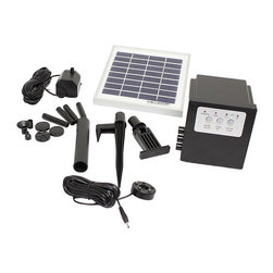 OEM - Solar Water Fountain Pump With Battery LED Timer - Keep your garden looking great with a solar water fountain pump Hardware can be set up easily wherever desired without wiring installation Home improvement device features a three-watt amorphous solar panel