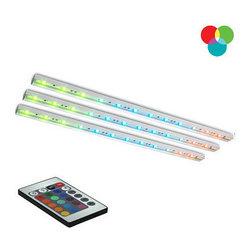 Bazz Lighting - Bazz Lighting LED102RB Under Cabinet LED Series Three-Light Undercabinet Fixture - Bazz LED102RB Under Cabinet LED Series Three-Light Undercabinet Fixture, with RGB LEDsBazz LED102RB Features:
