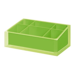 Gedy - Make-up Tray Made of Thermoplastic Resins in Green Finish - A quality piece.