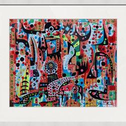 Kourosh Amini - Original Art Works By Kourosh Amini, English Powder - Original Art Work on paper.