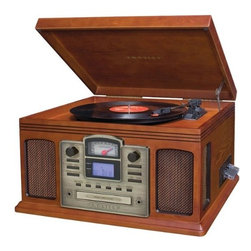 Crosley - Director CD Recorder - Paprika - In the music industry a Director has many roles in creating the perfect musical masterpiece. The Crosley Director CD Recorder allows you to be your own producer, or at least a preserver. Capturing your favorite songs from your private collection has never been easier thanks to Crosley. With the simple touch of a button, you can effortlessly record all of those 33's, 45's, 78's and even cassettes directly to CD. If the music doesn't take you back in time, the traditional Crosley styled cabinet will rock you back to the good old days. The sleek design houses a variety of technology complete with a 3-speed turntable, CD recorder, cassette deck, portable audio ready feature, AM/FM radio with a nostalgic analog tuner and a programmable CD player. With this much style and functionality the Director is a must have for any home. Cassette deck Portable audio ready feature78's and cassettes directly to CD. Be your own producer or at least preserve your CD records. Effortlessly record with a simple touch of a button. 45's Sleek design.