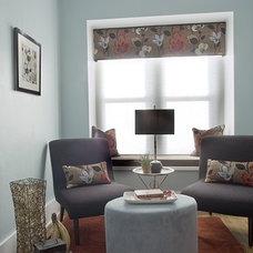 Modern Living Room by Suzan J Designs - Decorating Den Interiors