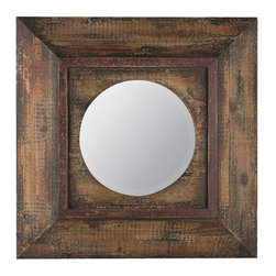 Cooper Classics - Cooper Classics Davenport Mirror, Distressed Brown - Compliment your home's decor with the beautiful davenport mirror. This lovely beveled wall mirror features a distressed brown finish that will compliment any motif.