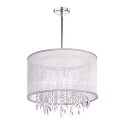 Dainolite - Dainolite 85301-PC-119 Bohemian 6 Light Chandelier - Features: