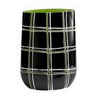 Green, Black and White Plaid Vase - *Highland Bowl