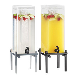 Cal Mil - 10.25W x 10.5D x 17.625H One by One Iced Beverage Dispenser Silver 1.5 Gallon 1 - The iced beverage dispenser is the perfect solution for the problem of beverages being diluted by ice. The seperate ice chamber keeps beverages cold while maintaining the refreshing taste that is desired for any occassion