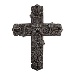 Zeckos - Greenman Cross Wall Decor - This beautiful cross is a lovely accent to any wall in your home or office. Made of cold cast resin, it measures 12 inches tall, 9 1/4 inches wide, and 1/4 inch deep. The cross features an allover leaf design, with a depiction of Greenman in the center. It easily mounts to the wall by the picture hanger and a single nail, and makes a great gift for friends and family.