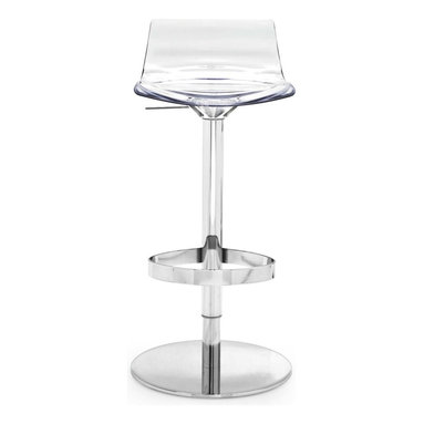 Calligaris - L'Eau Swiveling w/ Gas Lift Bar Stool, Transparent - A happy collection of colors and functionality, these swiveling bar stools feature a gas lift for easy height adjustment. Choose just the right color to accent your space, or choose all three for a trio of delights.