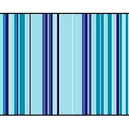 Casart coverings - Combined Stripe Pattern, Sky-Sea Wallcoverings, Sky - Sea, Backsplash (15 Sq. Ft - Casart Stripes come in pre-combined patterns for full wallcovering width coverage. These decorative options line up to be a quick and easy, carefree, DIY project.