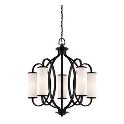 Designer Fountain - Bellemeade 5-Light Chandelier - 5-light chandelier