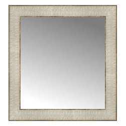 """Posters 2 Prints, LLC - 15"""" x 16"""" Libretto Antique Silver Custom Framed Mirror - 15"""" x 16"""" Custom Framed Mirror made by Posters 2 Prints. Standard glass with unrivaled selection of crafted mirror frames.  Protected with category II safety backing to keep glass fragments together should the mirror be accidentally broken.  Safe arrival guaranteed.  Made in the United States of America"""