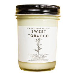 Hi Wildflower Botanica - Sweet Tobacco - 8 oz. Candle - Candles can inspire, calm and make a place feel like home. Hi Wildflower Botanica's Autumn collection of very special candles is inspired by the places and flowers we feel most drawn to, from India to Hawaii, and rose to tobacco-- each candle captures their magic.