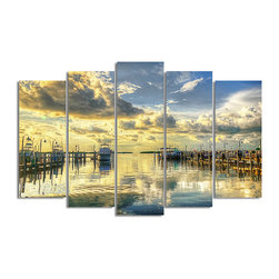 Ready2HangArt - Ready2hangart Bruce Bain 'Boat Dock' Canvas Wall Art - This beautiful canvas wall art is from photographer Bruce Bain. His work employs elements of imagination to capture a variety of subjects. It is fully finished, arriving ready to hang on the wall of your choice.