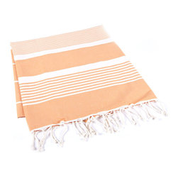 Handmade 100% Cotton Tunisian Fouta Hammam Towel, Plum - Bright and light, a fouta is a textile derivative of the traditional hammam towels of Turkey and North Africa. It is large enough for one person to use it as a beach towel. The foutas are made of lightweight cotton and roll up tightly, perfect for tucking in a bag and taking with you. Plus, they're as absorbent as traditional terry-cloth towels, and they dry quickly, too.